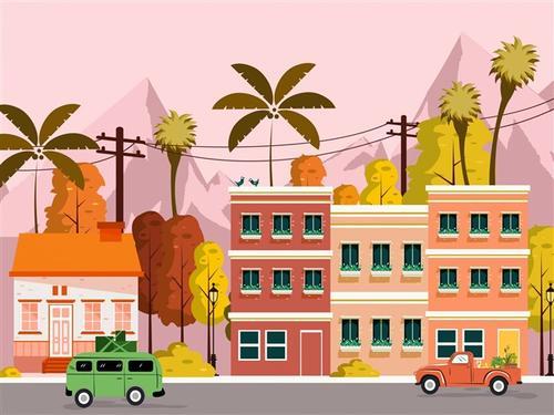 卡通城市图片
