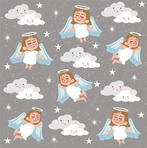 小天使图案