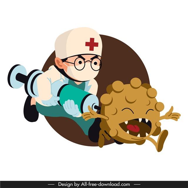冠状病毒插画