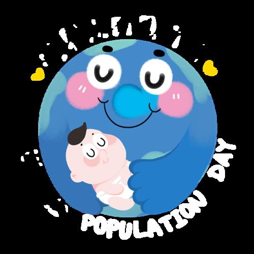 地球人口日矢量图
