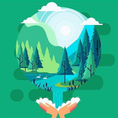 幼儿园保护环境图片