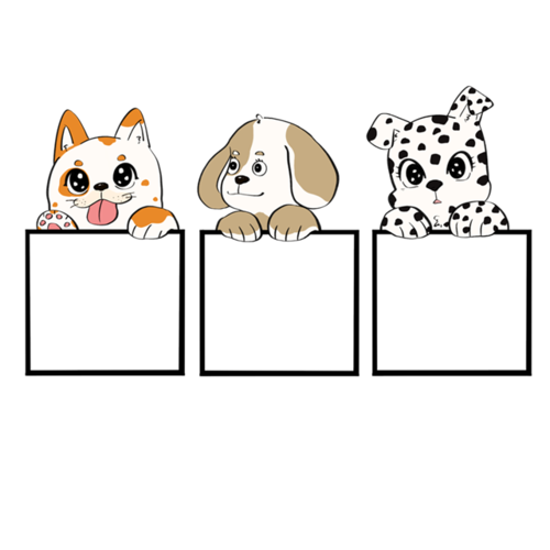 卡通小动物边框外框