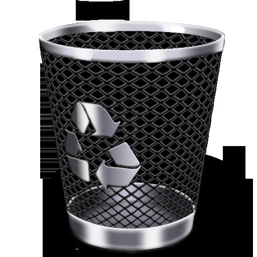 黑色网格垃圾桶