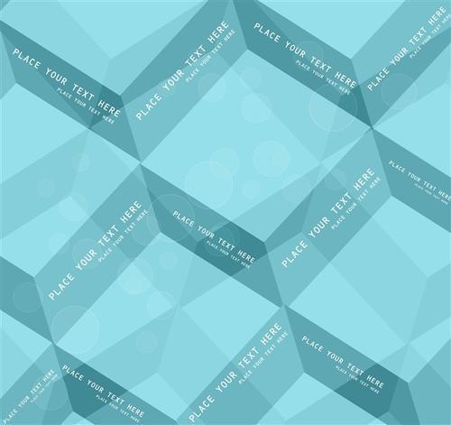 淡蓝色几何背景图片
