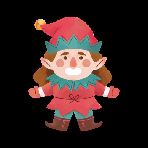 圣诞节小人图片