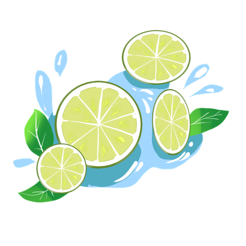清爽柠檬插画
