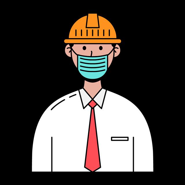 戴口罩工人图片