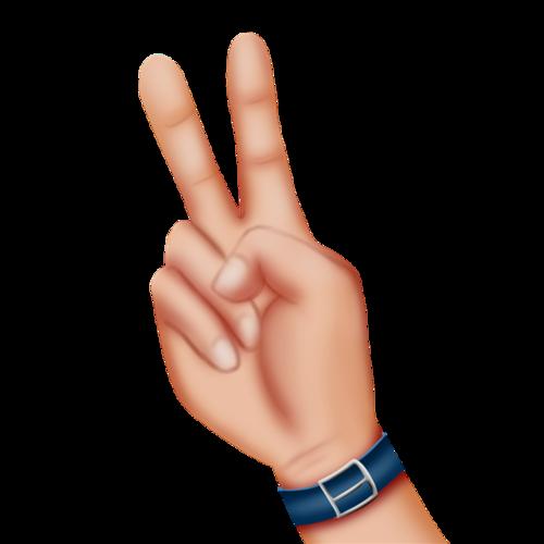比耶手势矢量图