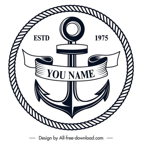 船锚标志logo