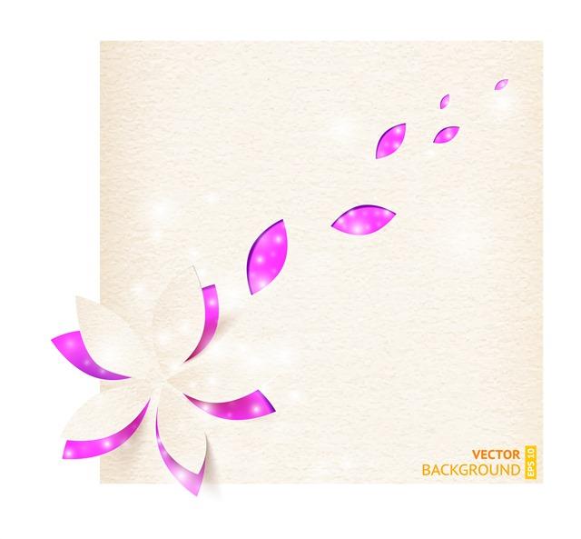 手绘花瓣飘落图片