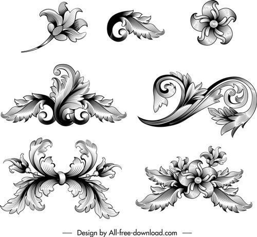 黑白花纹装饰