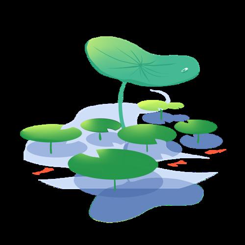 荷叶池塘简笔画