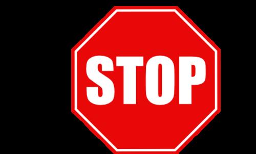 停车标志矢量图