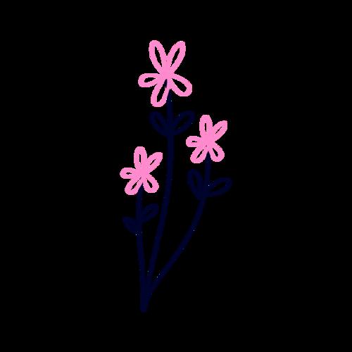 简约花朵装饰