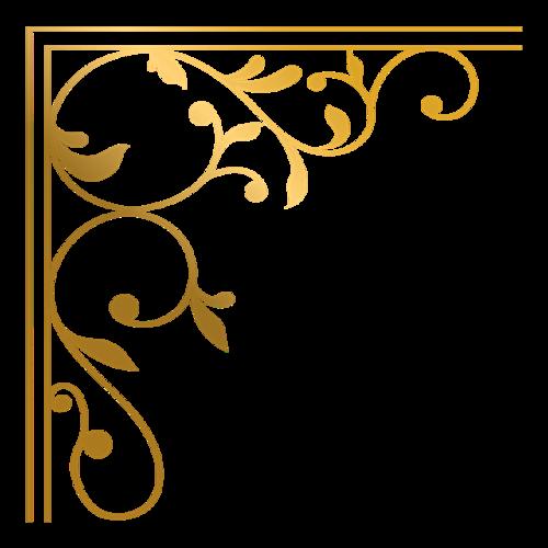 欧式花纹证书边框