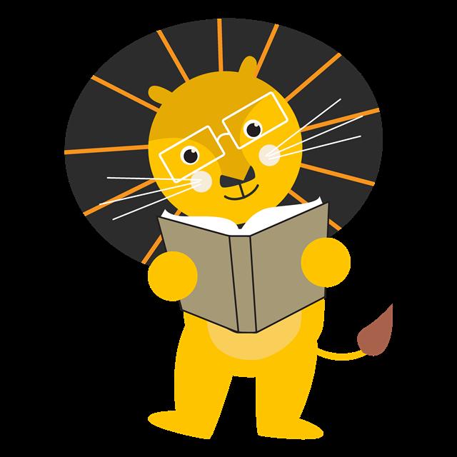 小熊读书学习装饰元素