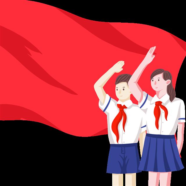 学生升旗敬礼图片