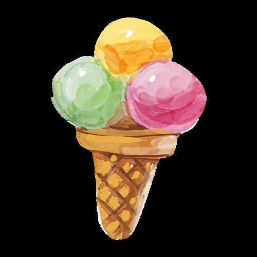 水彩冰淇淋图片