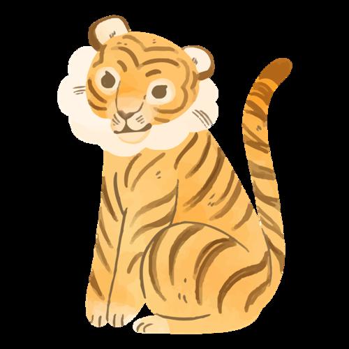 彩绘老虎图片