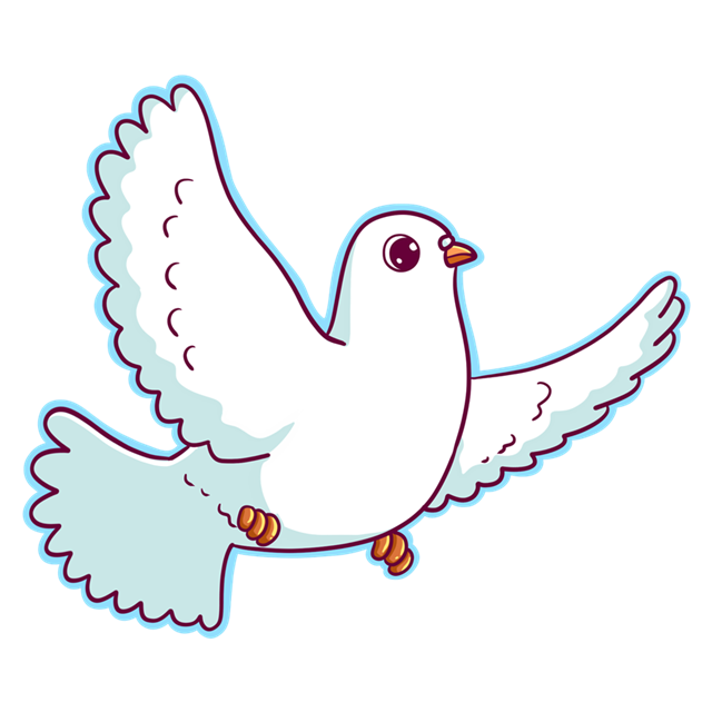 可爱生动和平鸽