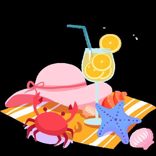 沙滩装饰图