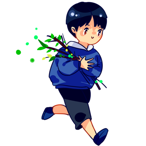 奔跑的男孩