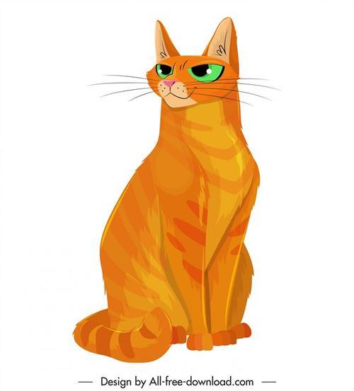 卡通橘猫图片