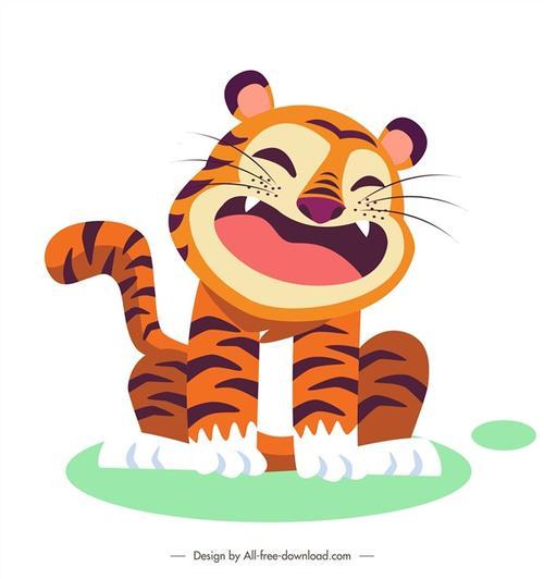 卡通可爱老虎图片