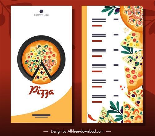 披萨餐厅菜单