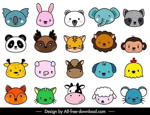 卡通可爱动物头像