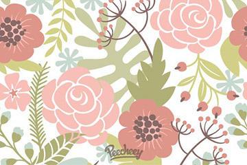 清新植物花卉背景图
