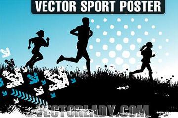 运动健身海报背景
