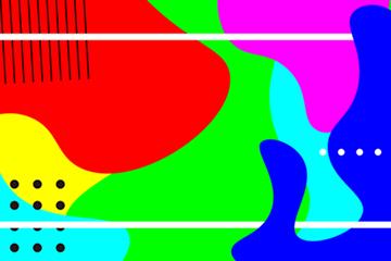 孟菲斯艺术背景图