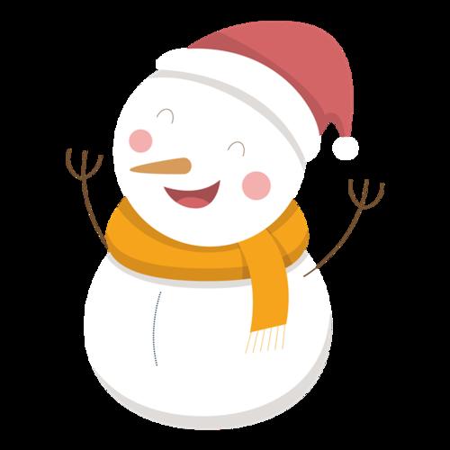 冬天雪人儿童简笔画