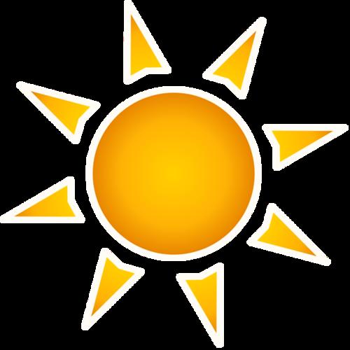 简约太阳图案