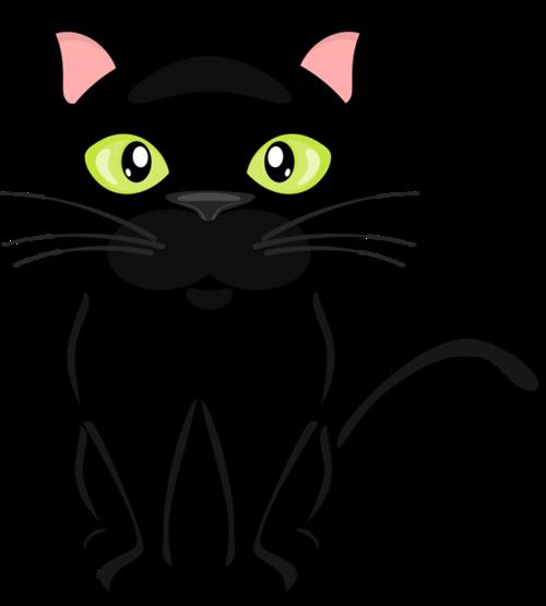 卡通可爱黑猫图片