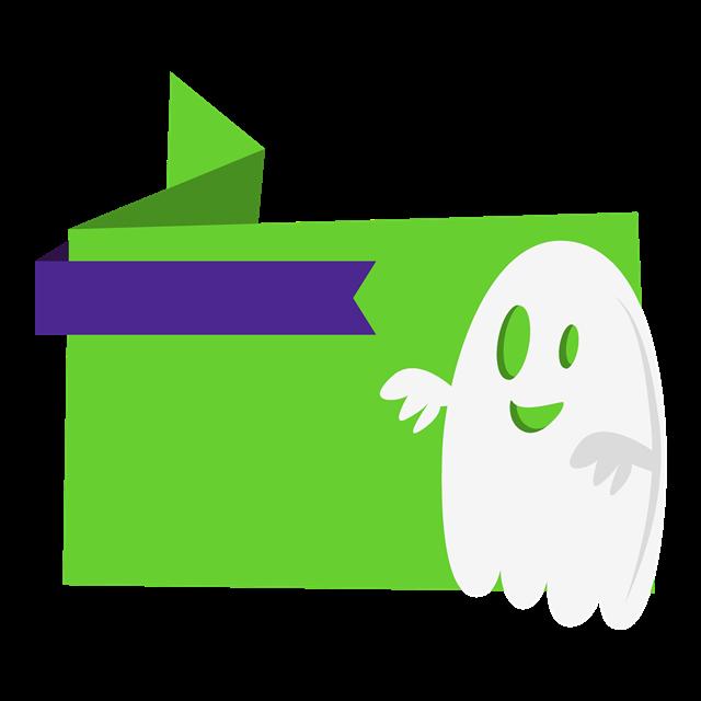 万圣节幽灵促销标签