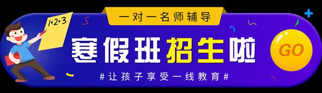 寒假班招生胶囊banner