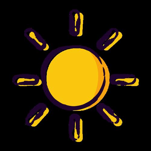 手绘太阳图片