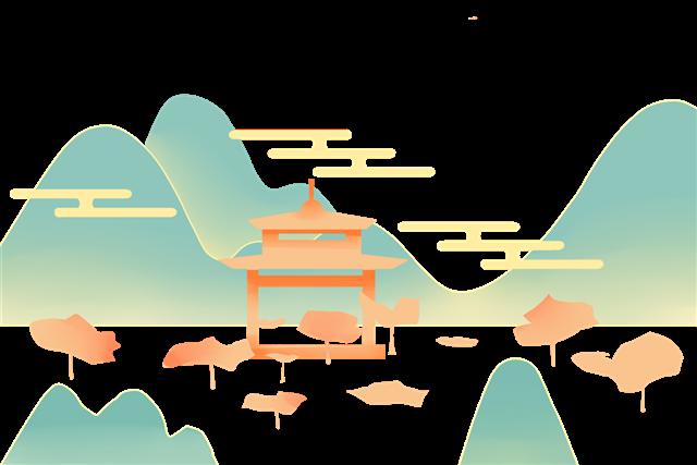 国潮山水画