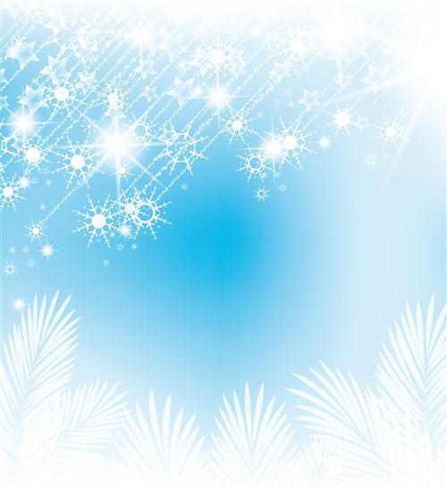 梦幻白色圣诞节雪花背景图