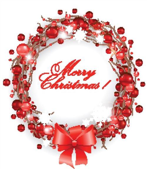 彩绘圣诞花环