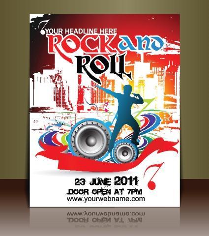 摇滚音乐海报宣传图片