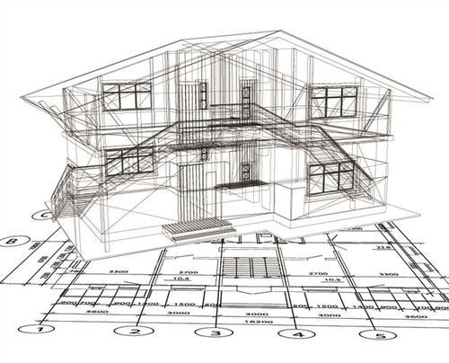 房屋建筑结构矢量图