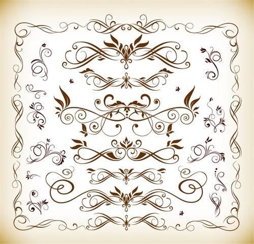 欧式花纹素材