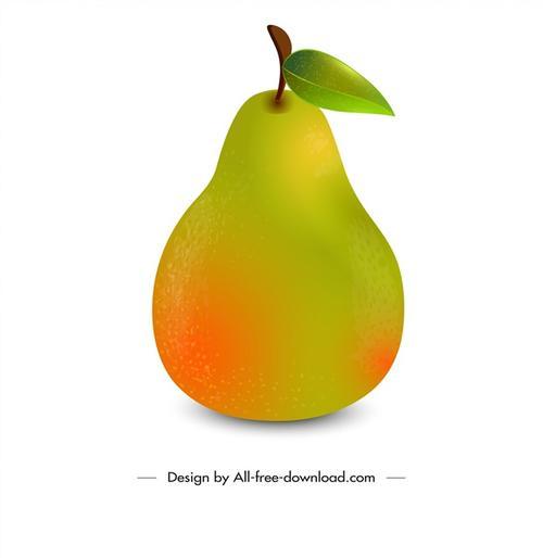 水果梨子矢量图