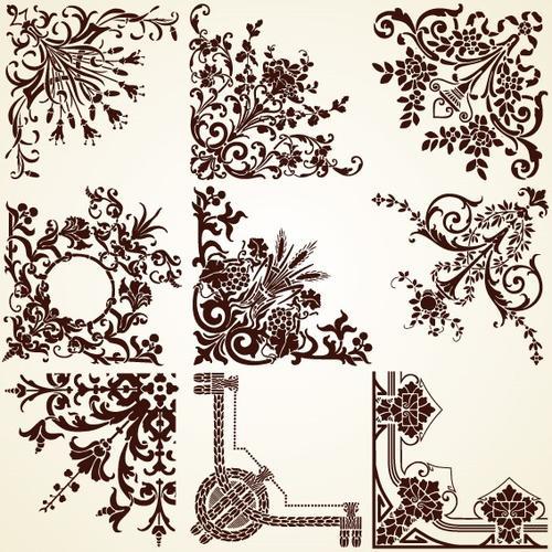 新款古典花纹装饰图