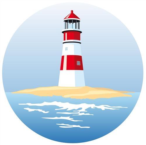 岛上灯塔图片