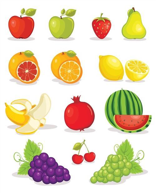 卡通水果图案