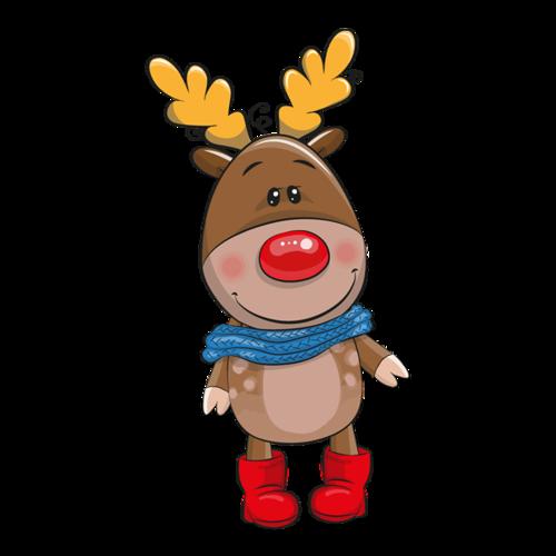 圣诞麋鹿形象